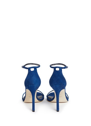 Back View - Click To Enlarge - Stuart Weitzman - 'Nudist Song' colourblock suede sandals