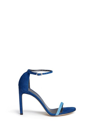 Main View - Click To Enlarge - Stuart Weitzman - 'Nudist Song' colourblock suede sandals