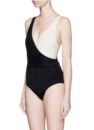 Figure View - Click To Enlarge - Solid & Striped - 'The Ballerina' colourblock one-piece swimsuit