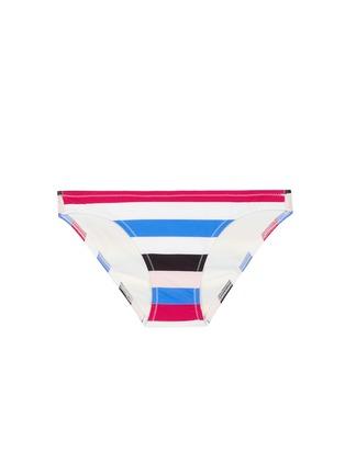 Main View - Click To Enlarge - Solid & Striped - 'The Chloe' multi stripe bikini bottom