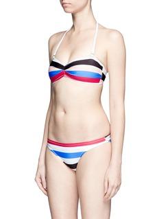 SOLID & STRIPED'The Chloe' multi stripe bikini bottom