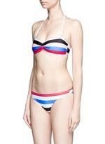 'The Chloe' multi stripe bikini bottom