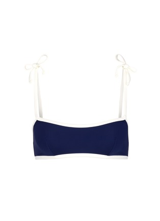 Main View - Click To Enlarge - Solid & Striped - 'The Poppy' shoulder tie bikini top