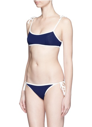 Figure View - Click To Enlarge - Solid & Striped - 'The Poppy' shoulder tie bikini top