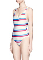 'The Anne-Marie' stripe one-piece swimsuit