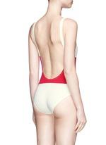 'The Anne-Marie' colourblock one-piece swimsuit