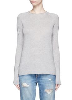 VINCERolled seam silk-cashmere sweater