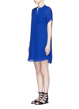Front View - Click To Enlarge - Vince - Cap sleeve silk chiffon popover dress