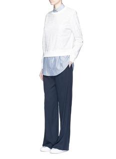 VINCEElastic waist silk combo wide leg pants