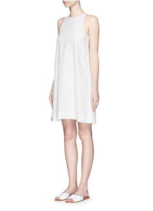 Vince-Burnout jacquard A-line dress