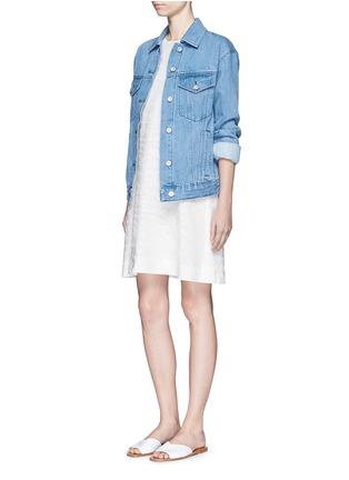 Figure View - Click To Enlarge - Vince - Burnout jacquard A-line dress