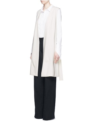 Figure View - Click To Enlarge - Vince - Ponte knit side slit long vest
