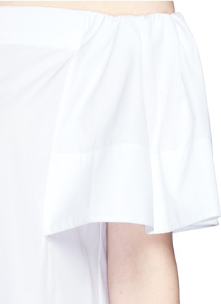Detail View - Click To Enlarge - Vince - Flutter sleeve off-shoulder shirt dress