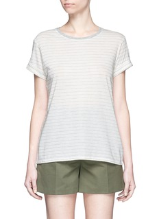 VINCE Speed stitch stripe rolled sleeve T-shirt
