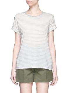 VINCESpeed stitch stripe rolled sleeve T-shirt