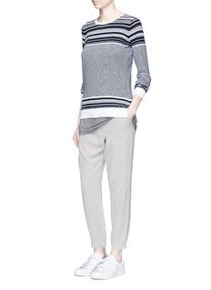 VINCEStriped slub cotton sweater