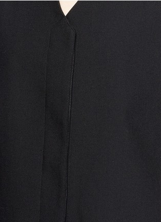 Detail View - Click To Enlarge - Helmut Lang - Cropped wool gabardine vest