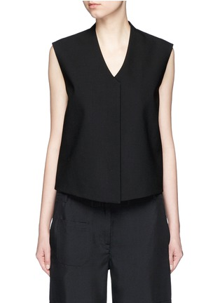 Main View - Click To Enlarge - Helmut Lang - Cropped wool gabardine vest