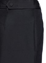 Dupioni silk belted cargo pants