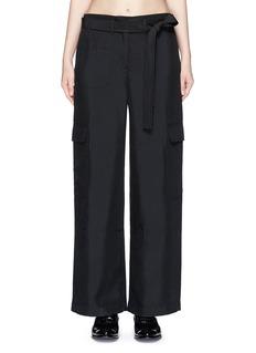 HELMUT LANGDupioni silk belted cargo pants
