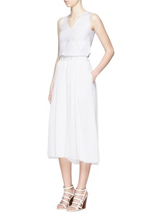 VICTORIA BECKHAM Crepe morocain pleated culottes