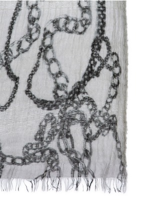Detail View - Click To Enlarge - Faliero Sarti - 'Chain' print virgin wool-modal-silk scarf