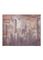 'Sky' print virgin wool blend scarf