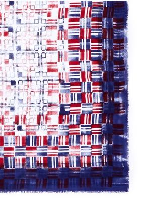 细节 - 点击放大 - FALIERO SARTI - 拼色几何图案莫代尔围巾