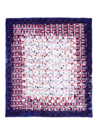 首图 - 点击放大 - FALIERO SARTI - 拼色几何图案莫代尔围巾