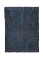 'Aire' swirl dot print modal-silk scarf