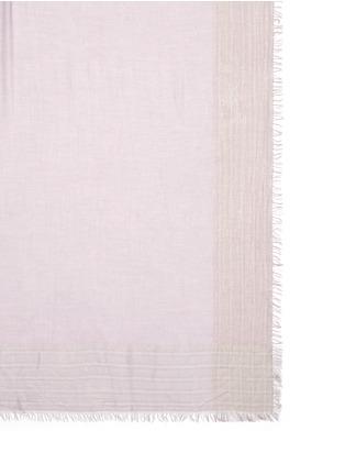 Detail View - Click To Enlarge - Faliero Sarti - 'Jin' metallic border silk blend scarf