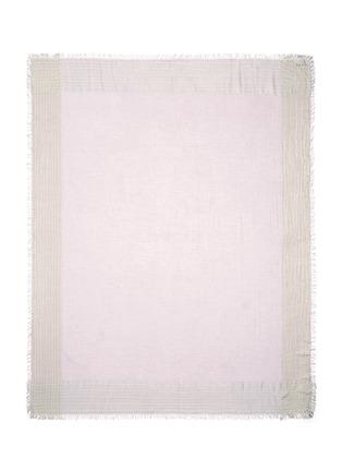 Main View - Click To Enlarge - Faliero Sarti - 'Jin' metallic border silk blend scarf