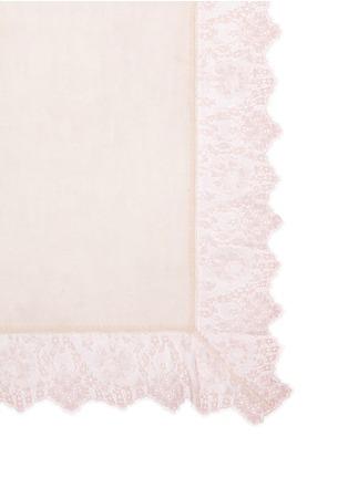细节 - 点击放大 - FALIERO SARTI - MANU蕾丝围边混羊毛围巾