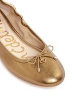 'Felicia' metallic leather ballet flats