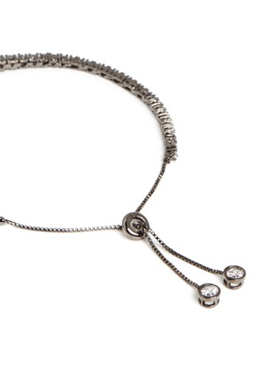 CZ by Kenneth Jay Lane - 'Shamballa' graduated brilliant cut cubic zirconia bracelet
