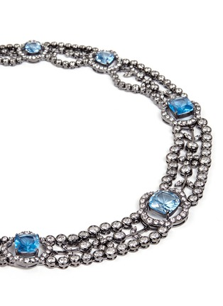 Detail View - Click To Enlarge - CZ by Kenneth Jay Lane - Cubic zirconia choker necklace