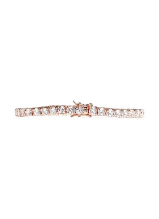 Back View - Click To Enlarge - CZ by Kenneth Jay Lane - Brilliant cut cubic zirconia tennis bracelet