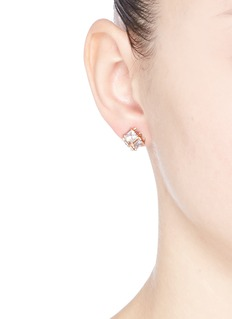 CZ by Kenneth Jay LaneCubic zirconia cube earrings