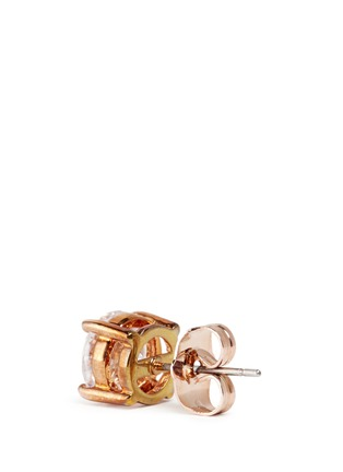 Detail View - Click To Enlarge - CZ by Kenneth Jay Lane - Brilliant cut cubic zirconia stud earrings