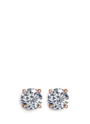 Main View - Click To Enlarge - CZ by Kenneth Jay Lane - Brilliant cut cubic zirconia stud earrings