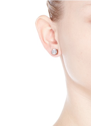 Figure View - Click To Enlarge - CZ by Kenneth Jay Lane - Brilliant cut cubic zirconia stud earrings