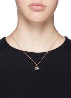 CZ by Kenneth Jay LaneCubic zirconia cube necklace