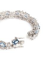 Stacked mix cubic zirconia bracelet
