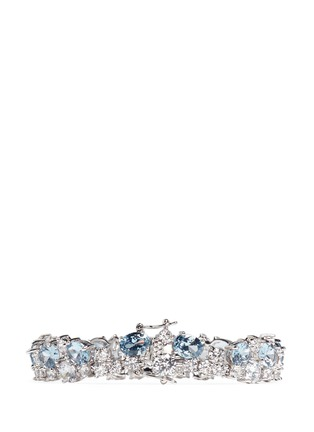 Back View - Click To Enlarge - CZ by Kenneth Jay Lane - Stacked mix cubic zirconia bracelet