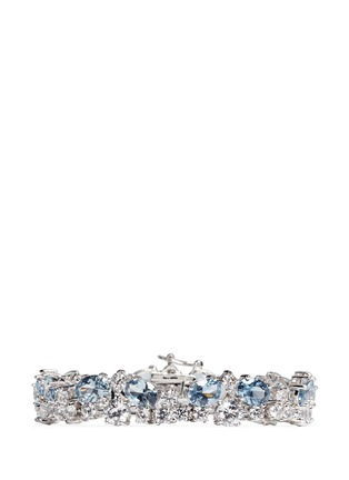 Main View - Click To Enlarge - CZ by Kenneth Jay Lane - Stacked mix cubic zirconia bracelet