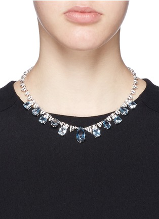 Figure View - Click To Enlarge - CZ by Kenneth Jay Lane - Cubic zirconia pavé fringe necklace