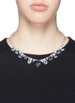 Cubic zirconia pavé fringe necklace