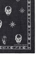 Skull tattoo print cotton-modal scarf