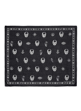 Main View - Click To Enlarge - Alexander McQueen - Skull tattoo print cotton-modal scarf