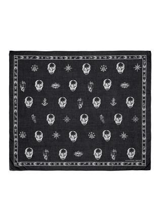 Alexander McQueen-Skull tattoo print cotton-modal scarf
